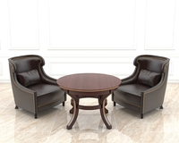 European Style Armchair and Coffee Table 3D Model