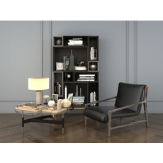 Relaxing Chairs and Coffee Table 3D Model