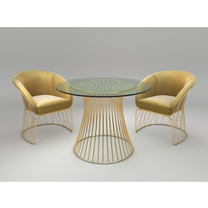 Modern Table and Chair Set 2 3D Model
