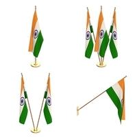 India Flag Pack 3D Model