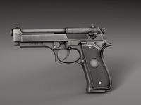 Pistol Beretta 3D Model