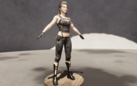 Army female 3D Model