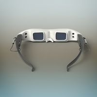 3D video glass 3D Model