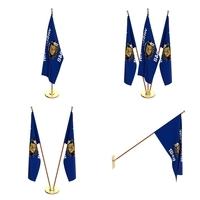 Wisconsin Flag Pack 3D Model