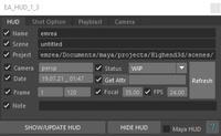 EA_HUD 1.3.0 for Maya (maya script)