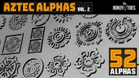 Aztec Alphas Volume 2 0.1.1 for Zbrush