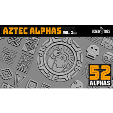 Aztec Alphas Volume 3 1.0.0 for Zbrush