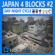 Japan 4 Blocks Set2 3D Model