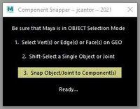 Component Snapper 2.0.0 for Maya (maya script)