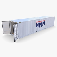 40ft Shipping Container HMM v1 3D Model