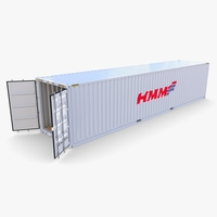 40ft Shipping Container HMM v3 3D Model