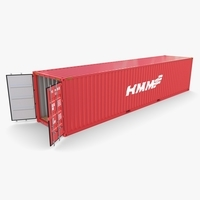 40ft Shipping Container HMM v4 3D Model