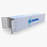 40ft Shipping Container NOL 3D Model