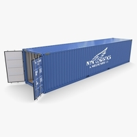 40ft Shipping Container NYK Logistics v1 3D Model