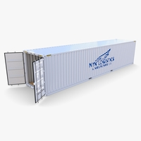 40ft Shipping Container NYK Logistics v2 3D Model