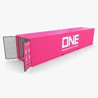 40ft Shipping Container ONE 3D Model