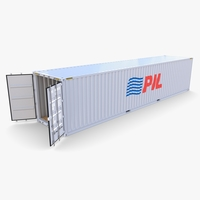 40ft Shipping Container PIL 3D Model