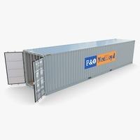 40ft Shipping Container PO Nedlloyd v1 3D Model