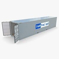 40ft Shipping Container PO Nedlloyd v2 3D Model