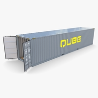 40ft Shipping Container Qube v1 3D Model