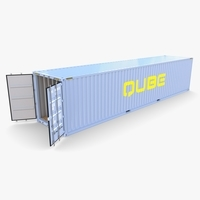 40ft Shipping Container Qube v2 3D Model