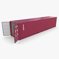 40ft Shipping Container Tex v1 3D Model