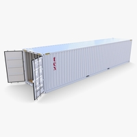 40ft Shipping Container Tex v2 3D Model