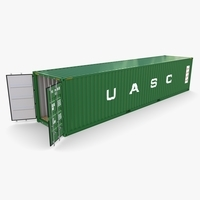 40ft Shipping Container UASC v1 3D Model
