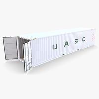 40ft Shipping Container UASC v2 3D Model
