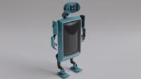 Robot TVset 01 3D Model