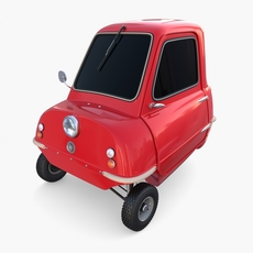 Peel P50 Red with chassis 3D Model