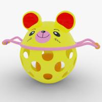 Baby Rattle Toy Bear 3D Model