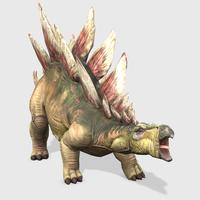 Stegosaurus Animated 3D Model