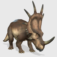 Styracosaurus Animated 3D Model
