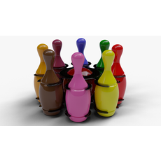 Baby Bowling Set Toy 3D Model