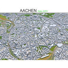 Aachen City  Germany 3D Model