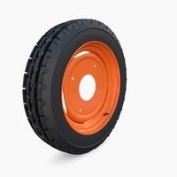 Full Tractor wheel v1 3D Model