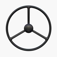 Tractor steering wheel 3D Model