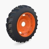 Full Tractor wheel v2 3D Model