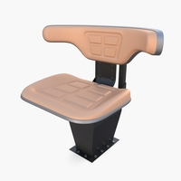 Tractor seat 3D Model