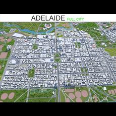 Adelaide city Australia  65km 3D Model
