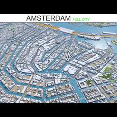 Amsterdam city Netherlands  50km 3D Model